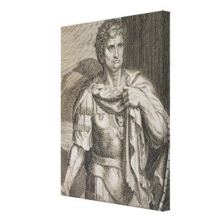 Nero Claudius Caesar Emperor of Rome 54-68 AD engr Canvas Print