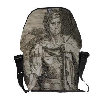 Nero Claudius Caesar Emperor of Rome 54-68 AD engr Courier Bag