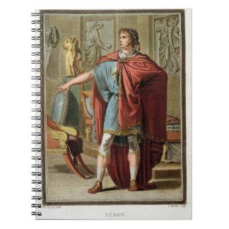 Nero, costume for 'Britannicus' by Jean Racine, fr Notebook