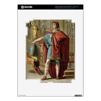 Nero, costume for 'Britannicus' by Jean Racine, fr Skin For iPad 3
