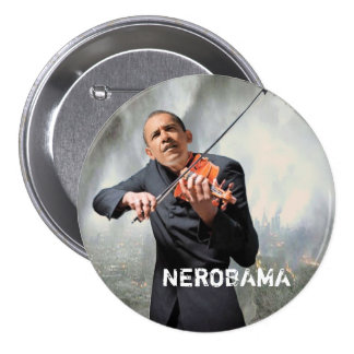 NEROBAMA PIN REDONDO DE 3 PULGADAS