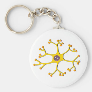 Nerve cell neuron keychain