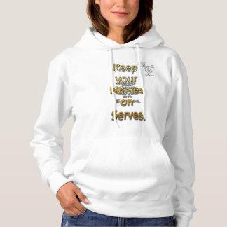 nerve serve tennis Hooded Sweatshirt