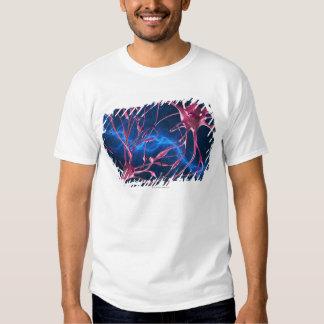 Nerve synapses, computer artwork. t shirt
