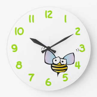 Nervous Bee Large Clock