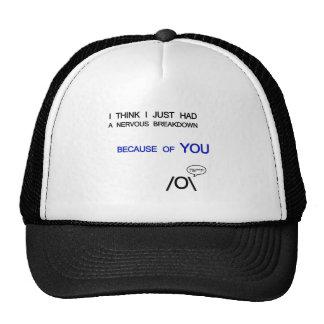 Nervous brakedown trucker hat