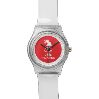 Nervous Bunny Rabbit - Keep Calm and Keep Thumping Wristwatches