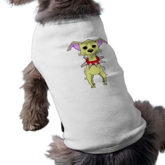 Nervous Chihuahua Cartoon Doggie Tshirt