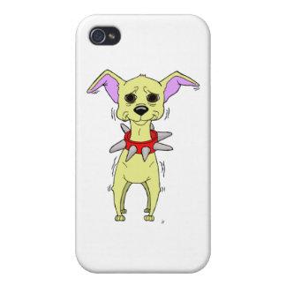 Nervous Chihuahua Cartoon iPhone 4 Case