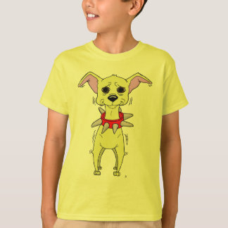 Nervous Chihuahua Cartoon T-Shirt