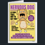 """Nervous Dog Magazine funny birthday card<br><div class=""""desc"""">From the world of Captain Scratchy (captainscratchy.com) comes Nervous Dog Magazine,  a hilarious parody of a magazine cover. It&#39;s the perfect birthday card for a dog lover,  as it details so many of the things that scare our poor pooches.</div>"""
