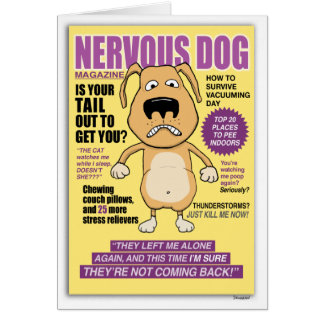 Nervous Dog Magazine funny birthday card