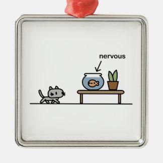 Nervous Fish Metal Ornament
