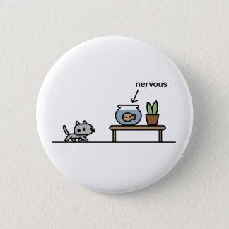 Nervous Fish Pinback Button