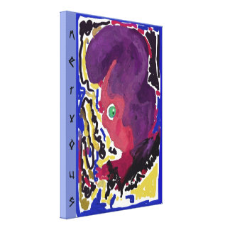 """""""nervous"""" Premium Wrapped Canvas (Gloss) by RaineC"""