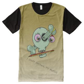 Nervous Teacher Funny Skull Customizable All-Over Print Shirt