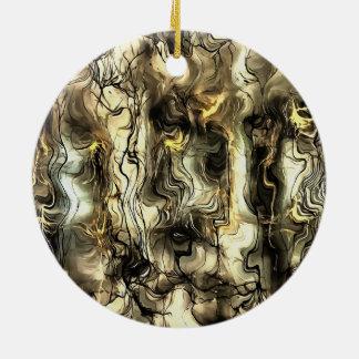Nervous Tension Ceramic Ornament