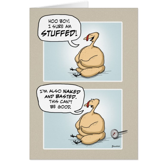 Nervous Turkey Thanksgiving Card