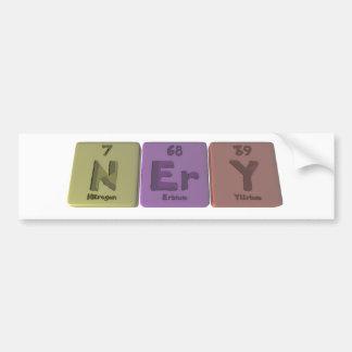 Nery as Nitrogen Erbium Yttrium Bumper Sticker