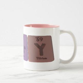 Nery como itrio del erbio del nitrógeno taza de café de dos colores