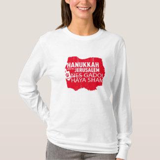 Nes Gadol Haya Sham For Women (RED) T-Shirt