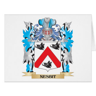 Nesbit Coat of Arms - Family Crest Greeting Cards