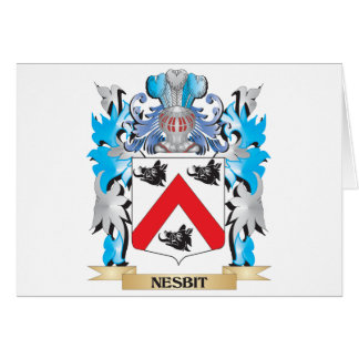Nesbit Coat of Arms - Family Crest Card