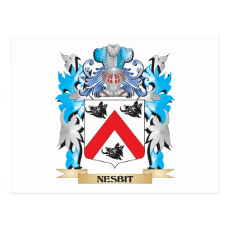 Nesbit Coat of Arms - Family Crest Post Card