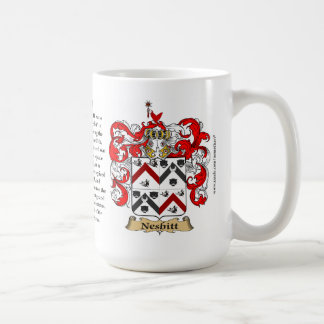 Nesbitt, the Origin, the Meaning and the Crest Coffee Mug
