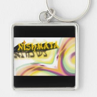 Neshama Silver-Colored Square Keychain