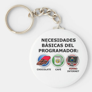 Nesidades basic of the programmer basic round button keychain