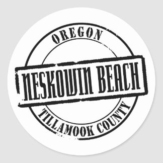 Neskowin Beach TItle Round Stickers