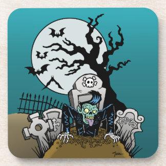 Ness Rockabilly Zombie Beverage Coaster