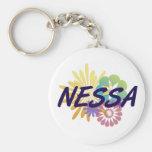 Nessa Basic Round Button Keychain
