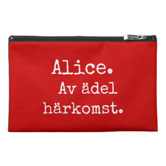 Nessecär with names and importance - Alice Travel Accessory Bag