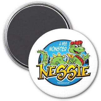 Nessie: A Wee Monster 3 Inch Round Magnet
