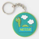 Nessie Basic Round Button Keychain