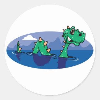 Nessie Round Stickers