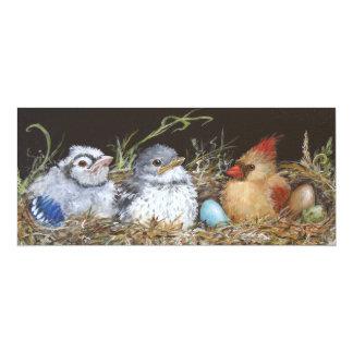 "Nest Babies flat cards 4"" X 9.25"" Invitation Card"