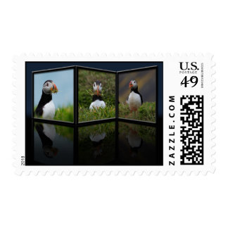 Nest Building Puffin Postage