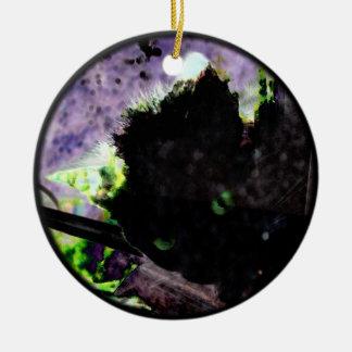 Nest • Egg • Kitty Ceramic Ornament