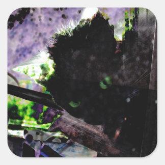 Nest • Egg • Kitty Square Sticker