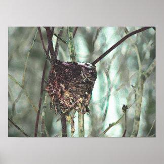 Nest in Winter Poster