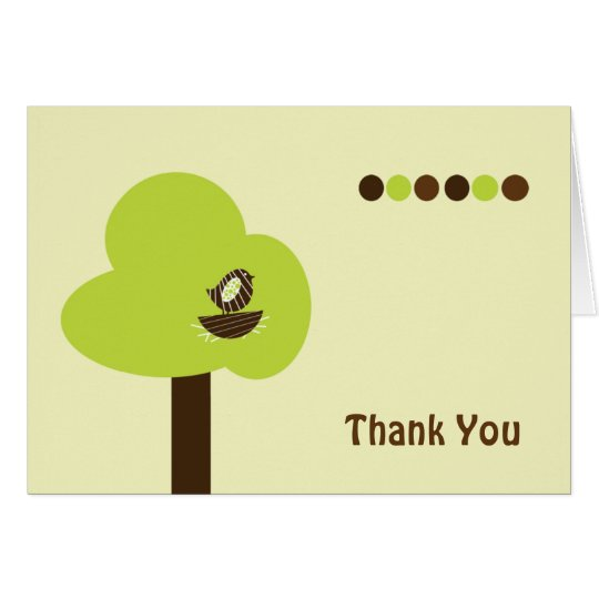 Nest Note Card Thank You