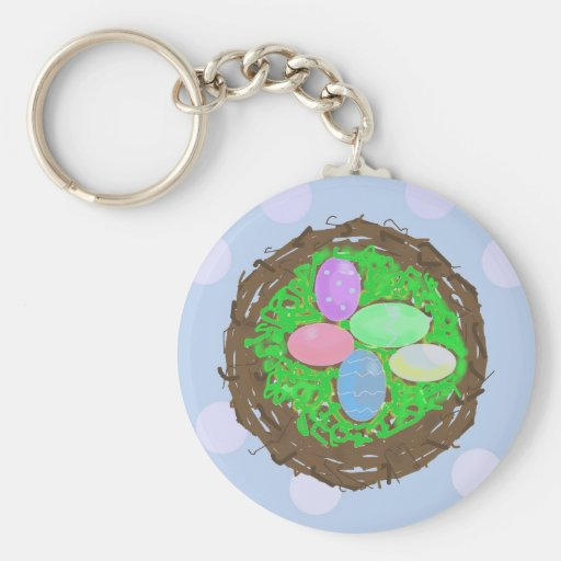 Nest of Easter Eggs Key Chains