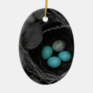 Nest parasitism ceramic ornament