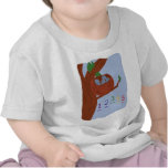 Nest Robin Eggs and Multicolored Numbers Tshirt