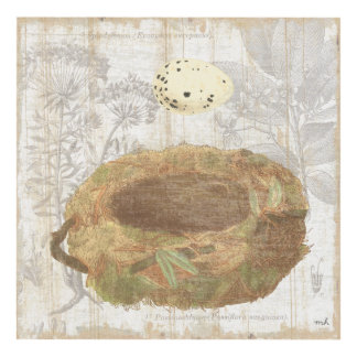 Nest with Speckled Egg Panel Wall Art
