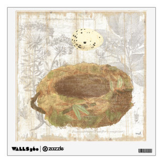 Nest with Speckled Egg Wall Sticker