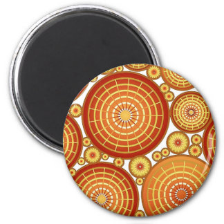 Nested wheels - copper and gold magnet